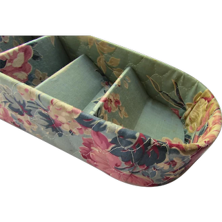 Quilted Floral Dresser Box Dream House Mid Century Design
