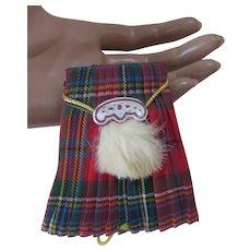 Souvenir Tartan Kilt PIncushion & Needle Holder