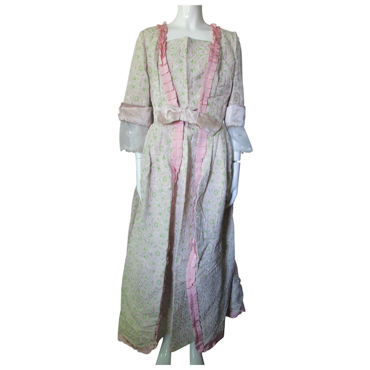 Outstanding 18th Century Colonial Style Dress in Pink and Green ...