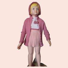 Little Girl Hand Knit Sweater Jumper & Cap Set Shades of Pink
