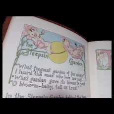 Book of Baby MIne 1940's Era Baby Book with Pastel Graphics and Local Rockford Illinois Ads