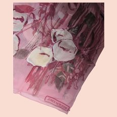 Jones New York Silk Oblong Scarf in Mauve Rose & Cream