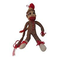 Cutest Sock Monkey Skinny Smiling Guy Hand Made