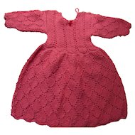 Knit Doll Dress in Coral 14 Inch Chest