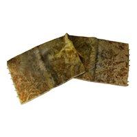 Boho Style 1920 Era Tie Dye Velvet Runner in Golds