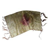Boho Style 1920 Era Tie Dye Velvet Runner in Golds & Amethyst