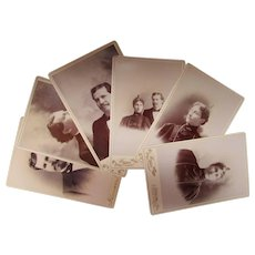 1897 Photographs Couple's Portraits on January 4th Sepia Tone Cabinet Cards Sterling IL