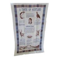 Souvenir Kitchen Towel Selkirk Scotland Screen Print