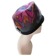 Bucket Hat Op Art Psychedelic Colors Grape, Pink, Cumin and Magenta Mr. Lewis