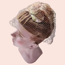 Unusual Cone Shaped Hat in Cocoa Tone Velvet  Home Tailored