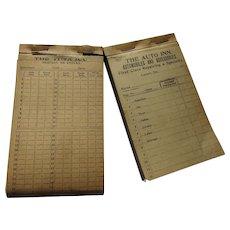 Pair 1910 Era Automobile Repair Receipts The Auto Inn Lanark IL McCaskey Corporation