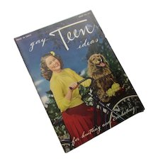 1944 Knitting Crochet Booklet Gay Teen Ideas J & P Coats