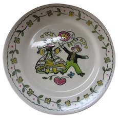 Happy Time by Poppy Trail Dancing Couple Dinner Plate
