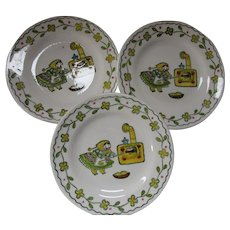Happy Time by Poppy Trail Dessert Plates Baking Peasant Lady
