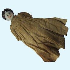 China Head Doll Small Size Original Dress As Found
