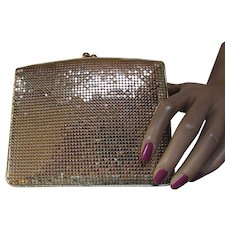 Whiting and Davis Gold Mesh Clutch Purse