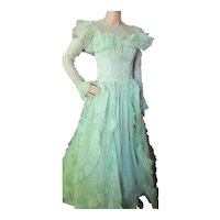 Fantastic Emma Domb 1950's Prom or Dance Dress Mint Green Original Receipt