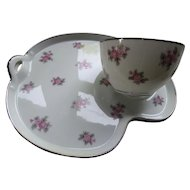 Noritake Japan Rose Palace 5539 Tea or Snack Set for Six Including Tea Pot, Sugar and Creamer Discontinued