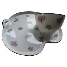 Noritake Japan Rose Palace 5539 Tea or Snack Set for Six Including Tea Pot, Sugar and Creamer Discontinued