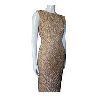 Elegant Beaded Evening Gown Hong Kong British Colony