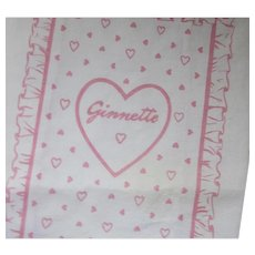 Ginette Pink Doll Bed Clothing Two Sheets One Bed Spread and Baby Ginette Two Diapers Free Shipping USA