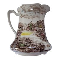 Olde English Countryside Pitcher Johnson Bros Made in England Transferware