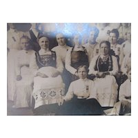 Turn of the Century Photo Norwegian Hardanger Women Group Stoughton Wisconsin