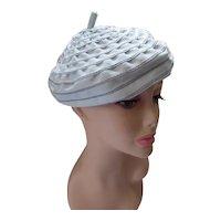 Beret Hat Robin Egg Blue Ribbon Spirals Spring Hats