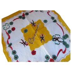 Brownie Handkerchief Brown & Yellow
