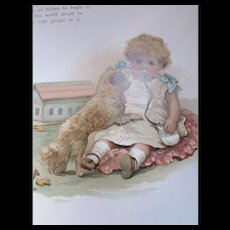 1901 Baby Book Baby's Life A Record of Our Baby Illustrated Harriett M Bennett Printed in Bavaria