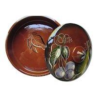 Sascha Brastoff Covered Dish Fruit Pattern 1950 Era