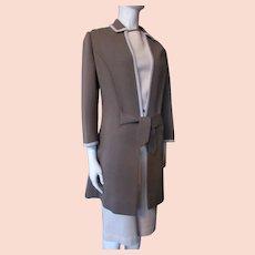Handsome Knit Sheath & Tunic Coat Gino Paoli Italy