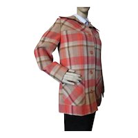 Young Pendleton Plaid Jacket Autumn Tones Size 11-12