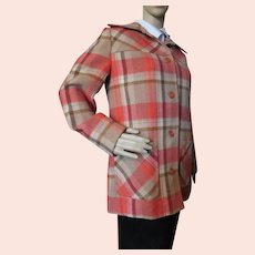 Young Pendleton Plaid Jacket Autumn Tones Size 11-12