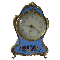 Small Decorative Clock with Working Music Box Made in Germany