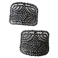 Deco Style Shoe Buckles Faceted Open Work Made in France