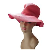Coral Color Slouch Hat for Spring & Summer