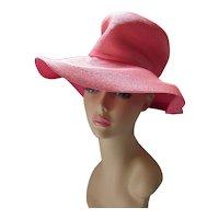 Pink Color Slouch Hat for Spring & Summer