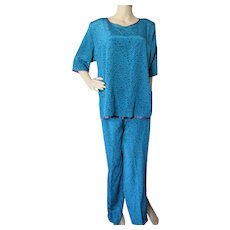 1980 Era Two Piece Top Pants Lounge Ware Maggie Shepherd Australia Size M