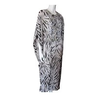 Animal Print Caftan Beaded Design Spiegel Made in India