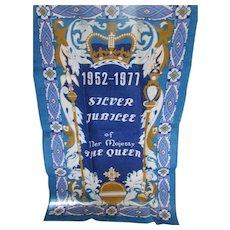Souvenir Kitchen Towel Silver Jubilee 1952-1977 Queen Elizabeth Irish Linen