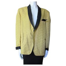 Unisex Dinner Jacket Mustard Gold Black Accents Towncraft Clothes