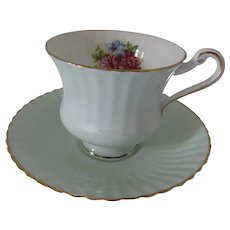 Paragon Tea Cup in Mint Green with Floral Spray