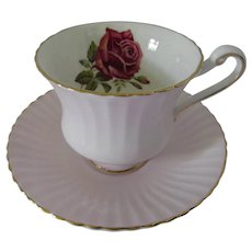 Tea Cup Paragon Fine China Delicate Pink Red Rose