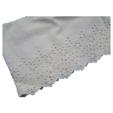 Lace Eyelet Flounce for Doll Clothing or Repair Projects
