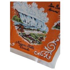 Niagara Falls Canada Linen Kitchen Towel Czechoslovakia
