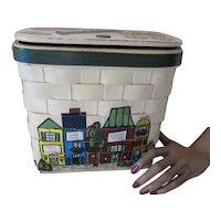 Caro Nan Wood Purse Painted Village Islamorada Fla Keys Irene & George's