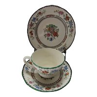 Copeland Spode Chinese Rose 3 Piece Tea Cup Set