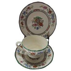Copeland Spode Chinese Rose 3 Piece Tea Cup Set
