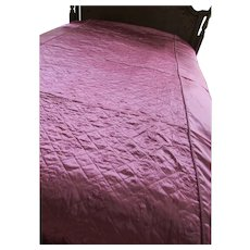 Boho Hollywood Style Satin Quilted Bedspread Peony Pink